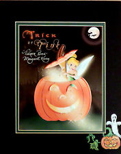 Disney Halloween Tinker Bell Autographed Photo w/Handpainted Matte Trick or Tink