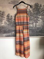 Topshop Orange Gray Knit Jumpsuit Calf Length Size UK 12/ US 8