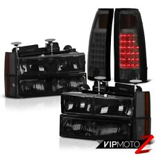 [DARK SMOKE] 1988-1993 Chevy C/K C1500 C2500 C3500 LED Tail Light Headlights SET