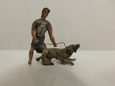 HEYDE ROMAN HANDLER TRAINER DOG VINTAGE LEAD TOY SOLDIERS GERMANY