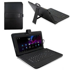 10.1'' Inch Android Tablet PC Leather Case Cover USB Keyboard Stand