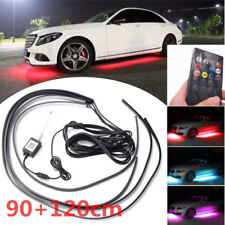 4x Universal RGB Car Underbody Light Front+Rear+Side LED Kit Remote Accessories