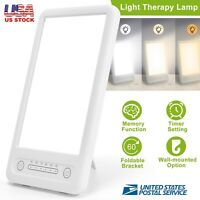 LED Therapy Energy Lamp Happy Light Lucent 10000 Lux Bright White Portable Light