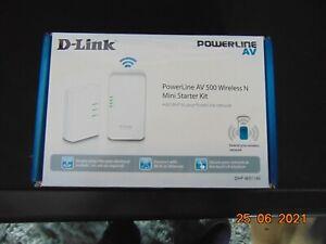 d-link powerline av 500 wireless n mini starter kit in good condition