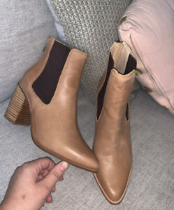 Current Jo Mercer Leather Ankle Boots In Lover Size 7/38 BNWOB RRP $269