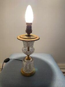 Pied De Lampe En Cristal Pointe De Diamant Style Empire . Sèvres  Seiler ?