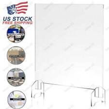 SNEEZE GUARD 1/4'thick Acrylic plate Desk Checkout counter Shield USA
