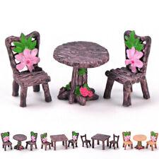 Ornamento del jardín Craft Planta Ollas Hada Mini Juego De Mesa Y Silla Decoración De Resina
