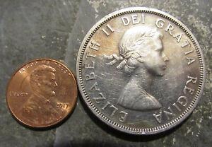 1957 Silver Canada One Dollar