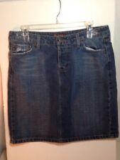 L.E.I. Denim Skirt Size 11 Straight Pencil Skirt Distressed Jeans