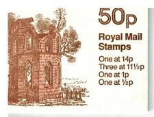 50p BOOKLET mugdock castle  ERROR FULL PANE MISSING PHOSPHOR SG FB16a £50