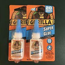 Gorilla Super Glue HUGE .71oz 20g Clear Metal Rubber Impact Tough Strong 2 pack