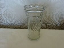 Vintage Retro Patterned Glass Vase 20cm Tall