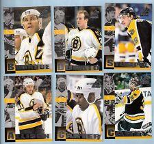 1997-98 Pinnacle Inside Boston Bruins Team Set (6)
