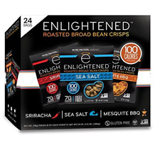 Enlightened Plant Protein Gluten Free Roasted Broad Fava Bean Snack, Variety 1.0