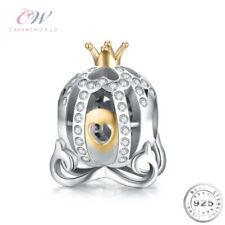 Princess Pumpkin Carriage Charm Genuine 925 Sterling Silver for Charm Bracelet💞