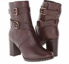 Kate Spade Nearly New Layne Mid Calf Lug Sole Buckle Boots 11M Brown $398