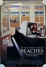 BEACHES ORIGINAL (1988) MOVIE POSTER! ~ BETTE MIDLER! ~ ROLLED MINT CONDITION!
