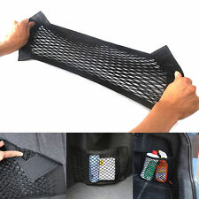 New Car Mesh Storage Bag Pocket Cage Back Rear Trunk Seat Elastic String Net UK