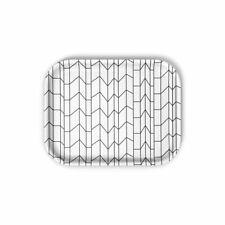 New in Box Vitra Alexander Girard Classic Large Tray - Gray Graph Pattern