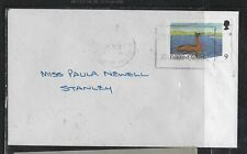FALKLAND ISLANDS COVER (P1912B) QEII 9D BIRD ON LOCAL COVER TO STANLEY