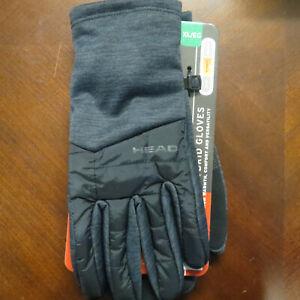 HEAD Men's Hybrid Touchscreen Running Gloves Size XLarge + SENSATEC ~ Grey ~