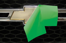 Chevy Vinyl Sheet x2 fits Chevy Bowtie Emblem Logo GRASS GREEN Decals U-CUT Trim