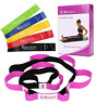 Physical Therapy and Yoga Loops Stretching Strap with 5 Exercise Resistance Band
