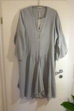 MOONSHINE Kleid Tunika 48 50 (3) NEU 50% Leinen hell grau DETAILS LAGENLOOK