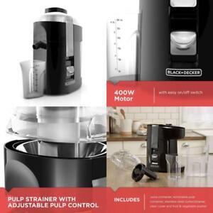 Black+Decker 400-Watt Fruit And Vegetable Juice Extractor Black Je2200B