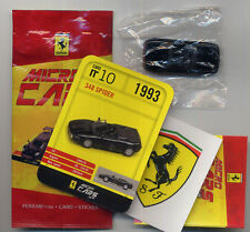 Micro Cars 2013 FERRARI 348 Spider #10 card+sticker+bag+bpz 1/100 Kyosho MIB