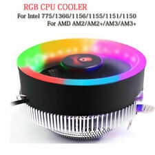 100mm RGB Colorful LED Ring PC CPU Cooler For AMD Intel 775/1366/AM2/AM2+/AM3