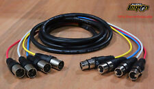 2.5mm 4-pole cables TRRS RA male to bare end 6 foot Lot of 3 172-7446-E