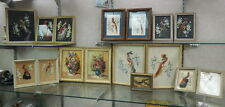 16 signed oil painting listed Glenn F Bastion Ind 13 birds 2 florals 1 landscape
