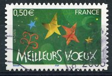 STAMP / TIMBRE FRANCE OBLITERE N° 3726 MEILLEURS VOEUX / AUTOADHESIF