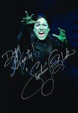 "Stephanie J. Block Elphaba SIGNED ""Defy Gravity"" Wicked Huge 12x18 Photo COA"
