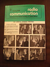 JAN 1978 RADIO COMMUNICATION MAGAZINE (RADCOM)