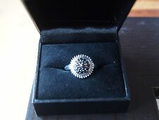 Champagne Diamond (0.02ct) Sterling Silver (925) Ring - Size N/7