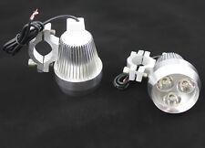 Silver 9W LED Spot Fog Lamp CREE Light For Custom ATV  Scooter Bike Motorcycle