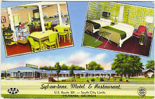 Sylvania GA Syl-va-lane Motel Restaurant AAA Rated Multi-view Vintage Postcard