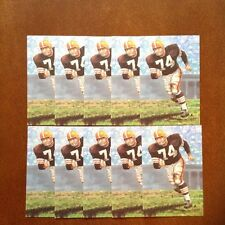 Mike McCormack Browns Lot of 10 unsigned Goal Line Art Cards