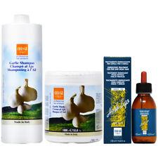 Ever Ego Garlic Shampoo + Mask 33.8oz + Herb Ego Drop Lotion 4.22oz w/Nail File