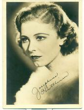 JOSEPHINE HUTCHINSON Movie Star Orig  5x7 1930s Fan Photo Signed