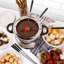 Nostalgia FPS200 6-Cup Stainless Steel Electric Fondue Pot - 500 WATT  / 6 FORKS