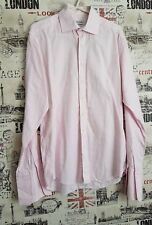 Balmain Paris Pink Checked Print Shirt Collar Size 15  collar 38 M