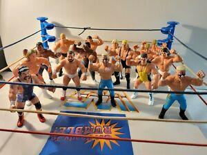 Galoob WWF WCW Wrestlers Wrestling Figures STING Steiner LJN Hasbro Rare Lot 15