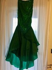 Ariel Little Mermaid Fancy Dress Ladies, Costume Skirt, Sequin Green Small