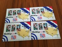 1994 MNH World Cup Soccer 3 Stamp Sheet Lot of 4