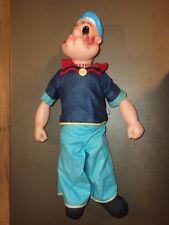Vintage Gund POPEYE King Talking / Laughing Crank 20 inch 1958 Doll Plush RARE