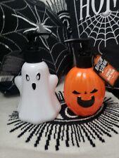 Halloween Ghost & Pumpkin Hand Soap Dispenser pair Gothic Bathroom 250ml tkmaxx